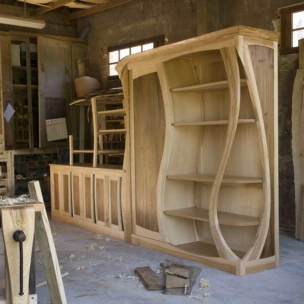 meuble courbe - création Jean Berson